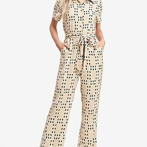 Emory Park Polka Dot Short Sleeve Jumpsuit